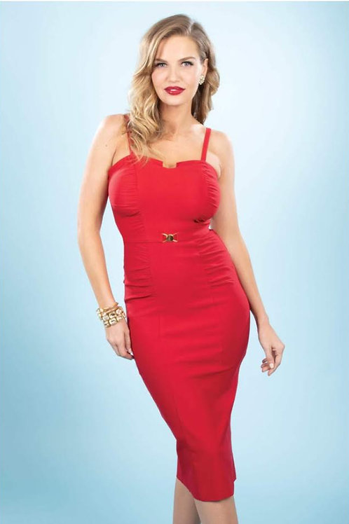 So Red Fitted Dress