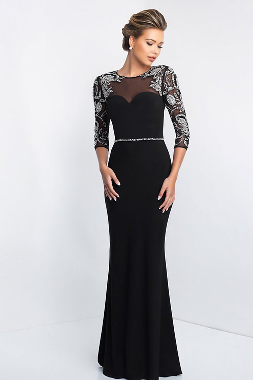 Black Dramatic Arms Gown