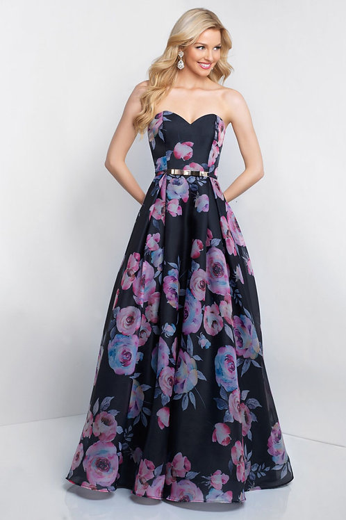 Black Sweetheart Roses Gown