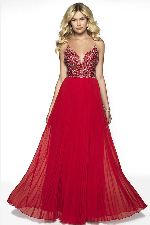 Red Strappy Gown