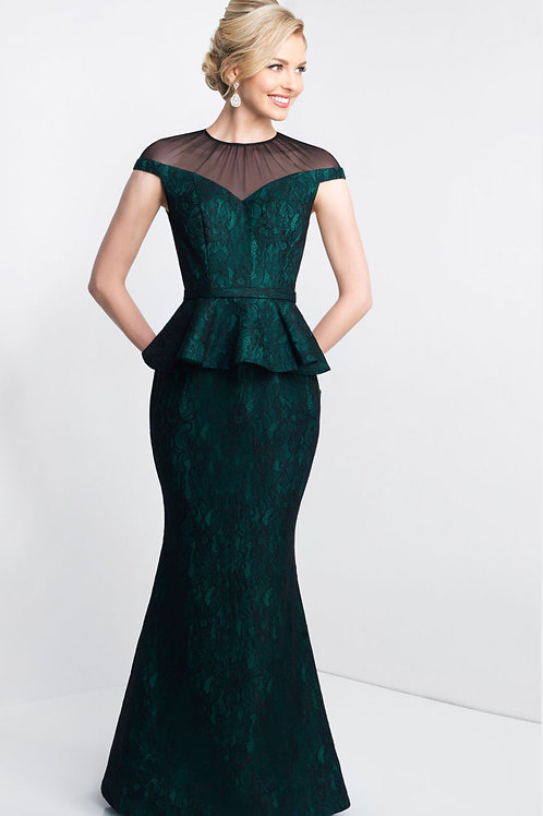 Green Gorgeous Peplum Gown