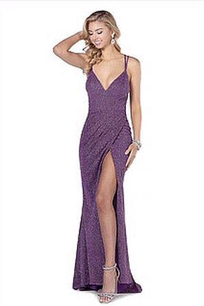 Mauve Sparkle Strappy Gown