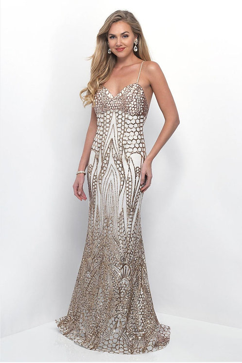 Gold Patterned Gown