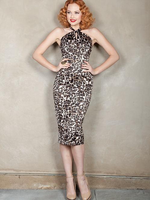 Halter Animal Print Dress