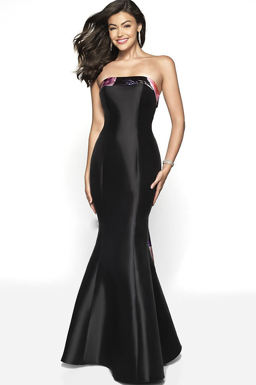 Black Satin Gown