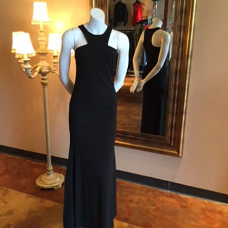 Cut-Out Black Gown