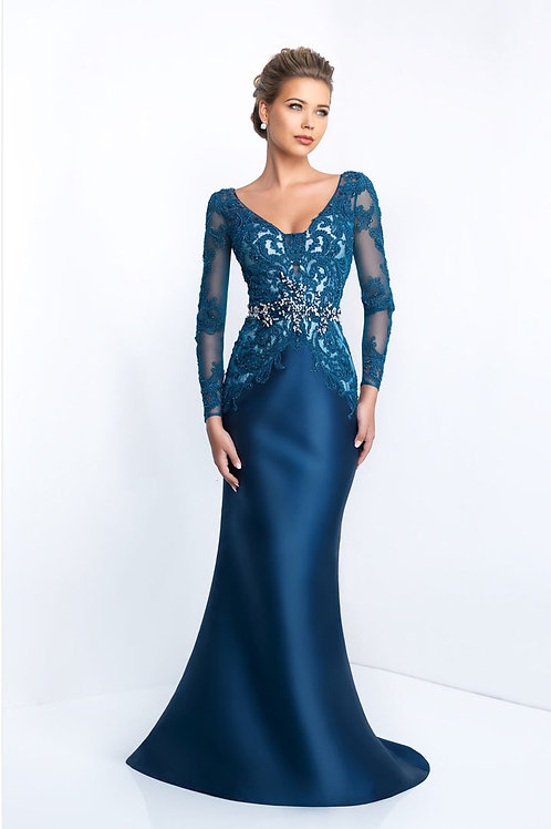 Blue Mother of the Bride Gown