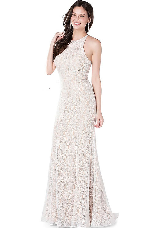 Lace & Lux White Corset Gown