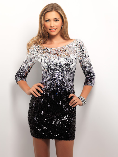 Black Silver Cocktail Dress