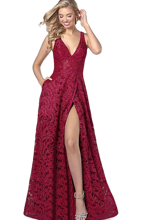 The Duchess Red Floral Gown