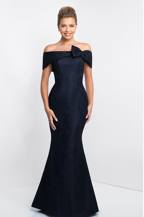 Navy Bow Gown