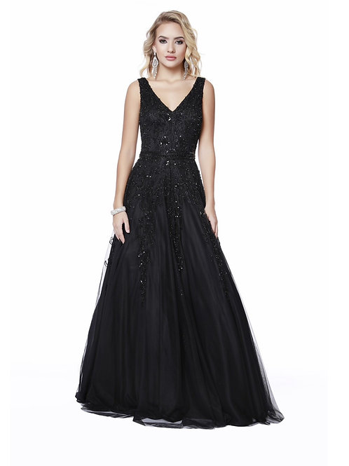 Elegant and Chic Black Gown