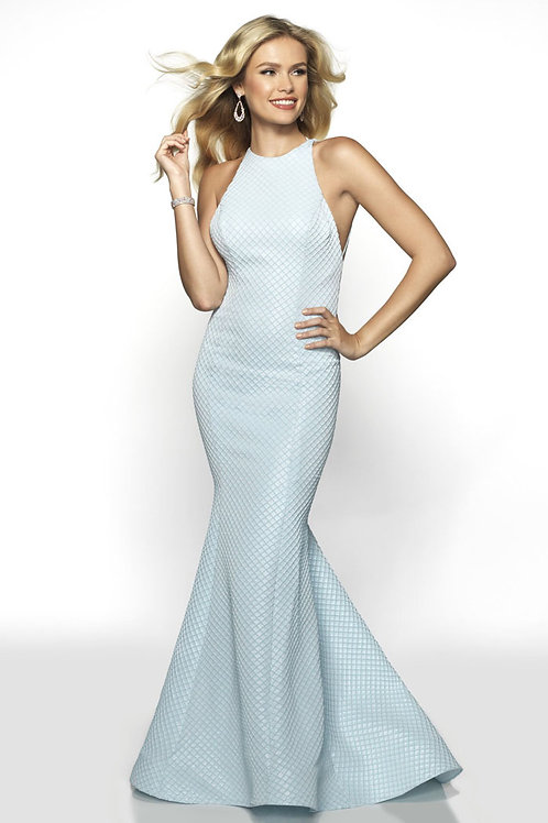 Strappy Blue Mermaid Gown