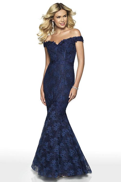 Blue Flower Garden Gown