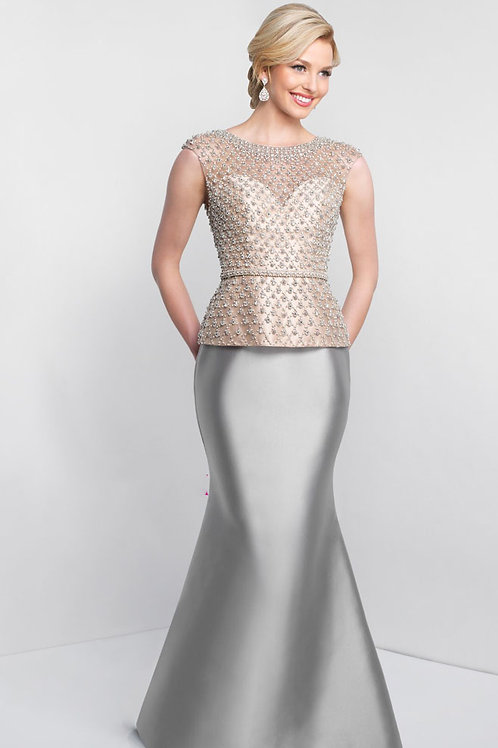 Gray Two-Toned Gown