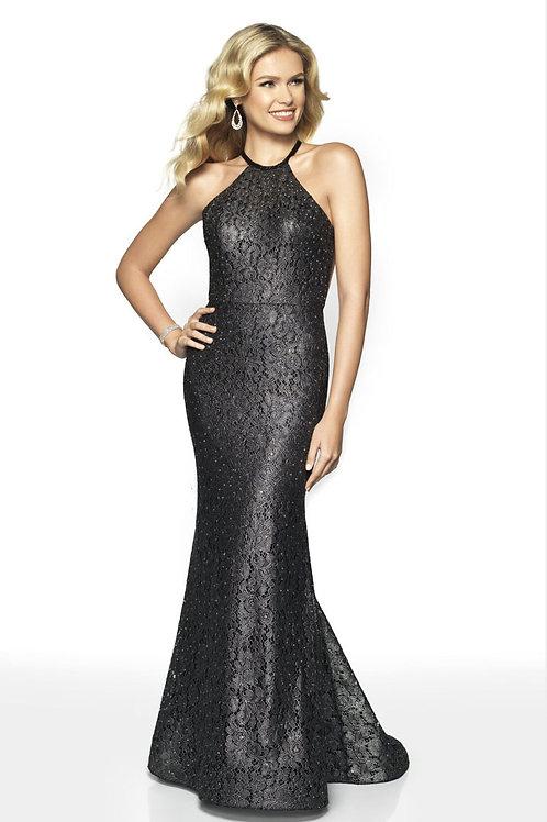 Black Stunning Halter Gown