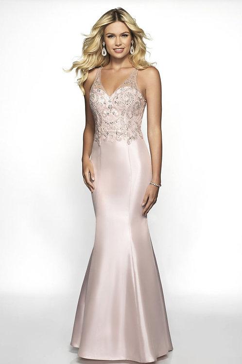 Blush Beaded Mermaid Gown