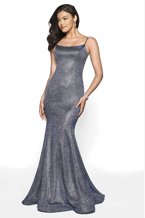 Blue Shimmer Gown