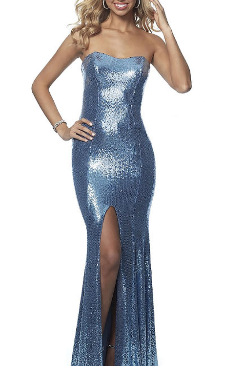 Blue Heaven Sparkled Gown