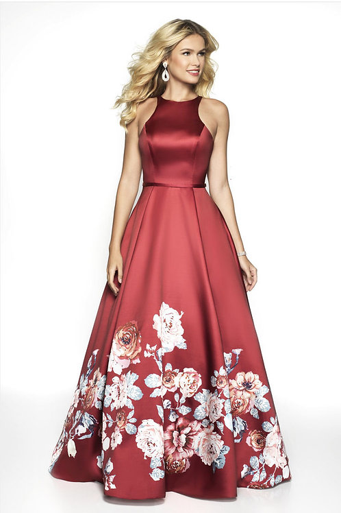 Red Floral Ballgown