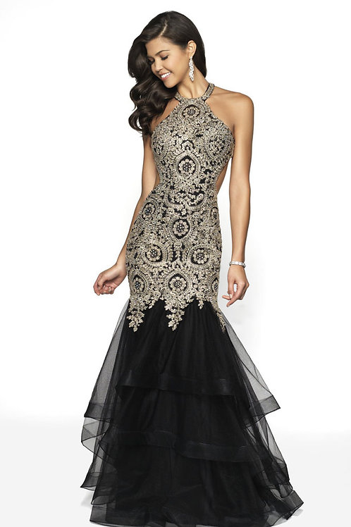 Black Embellished Beauty Gown