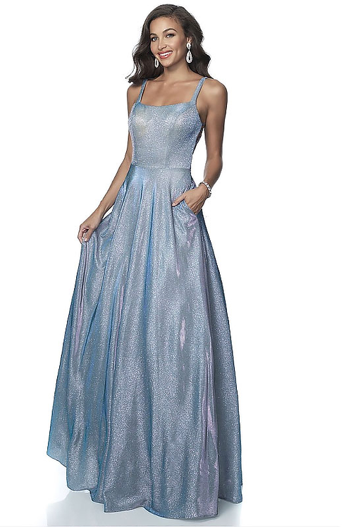 Iridescent Metallic Blue Lovely Days Gown