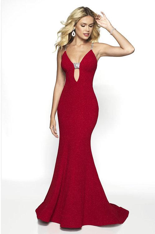 Scarlet Deep Plunge Gown
