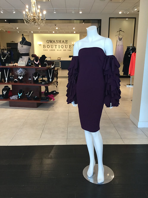 Chic Plum Ruffle Dress