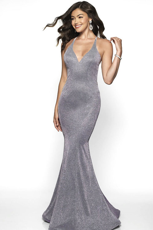 Silver Champagne Sparkle Gown