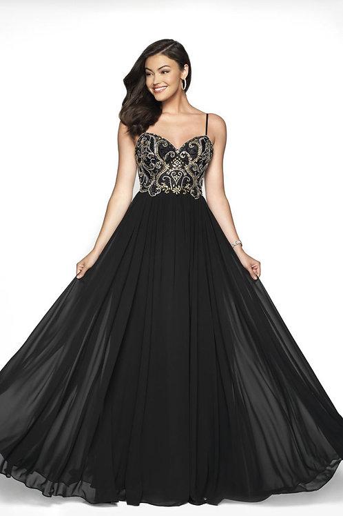 Black & Gold Ballgown