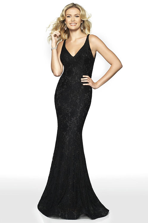 Black Lacy Gown