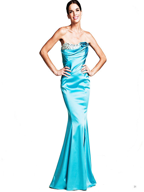 Long Turquoise Gown