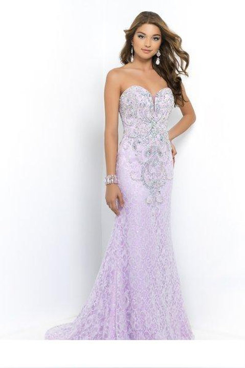 Gorgeous Purple Strapless Gown