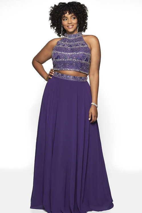 Purple Two-Piece Gown