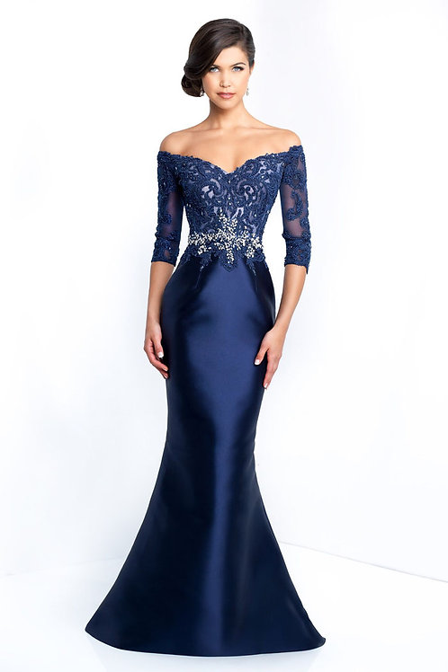 Blue Star Sleeved Gown