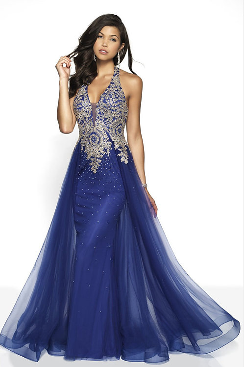 Blue Dramatic Gown