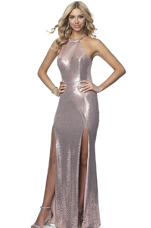 Double Leg Slit Party Time Gown