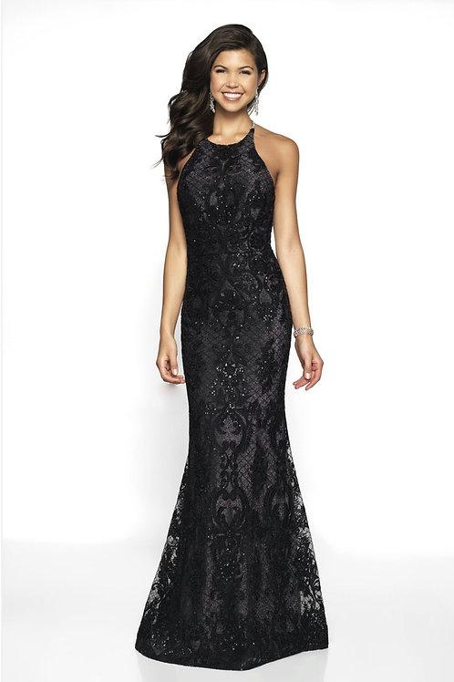 Black Lacy Mermaid Gown