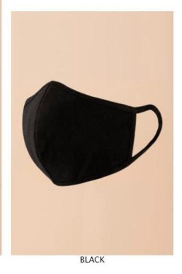 Protruding Black Fashion Face Mask