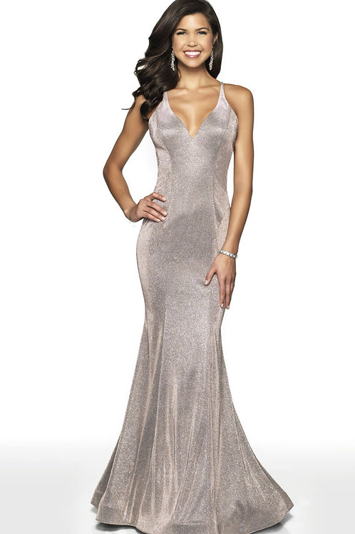 Champagne Sparkle Gown