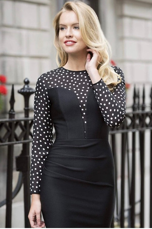 Heart Shape Fitted Polka Dot Dress