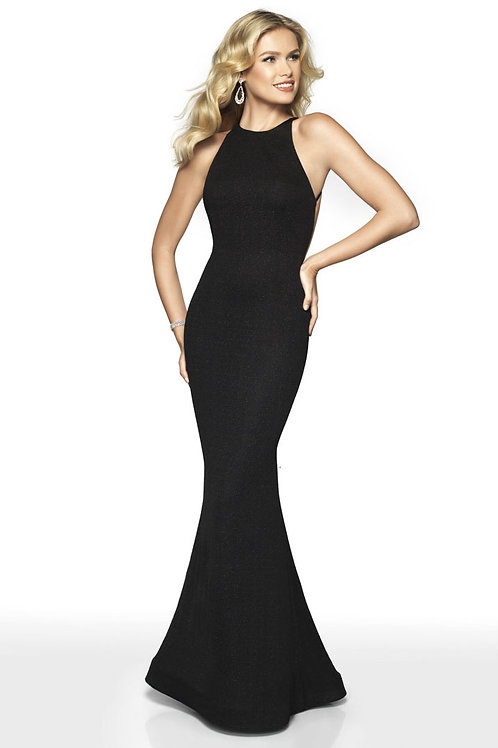 Strappy Black Mermaid Gown
