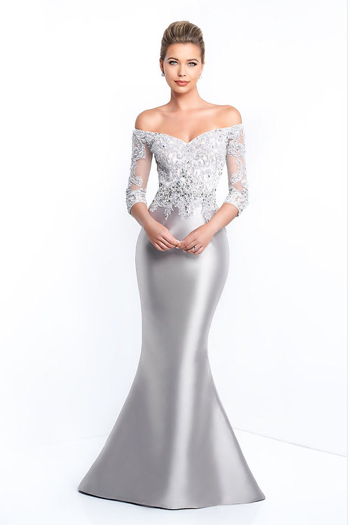 Silver Star Sleeved Gown