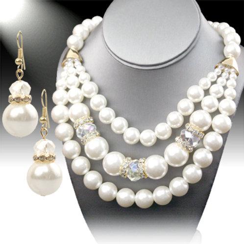 3 Strands Necklace Set