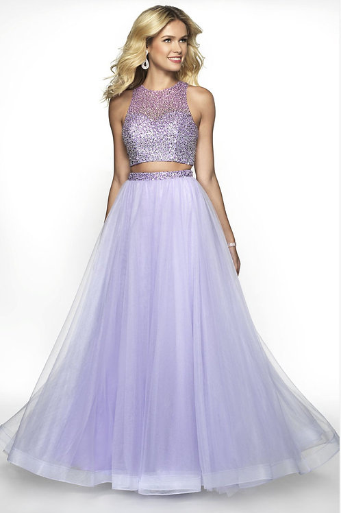 Purple Two-Piece Party Gown