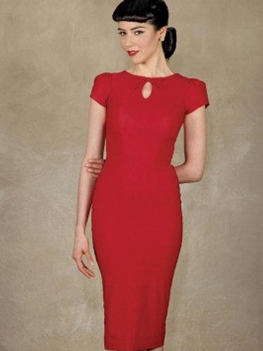 Keyhole Red Dress