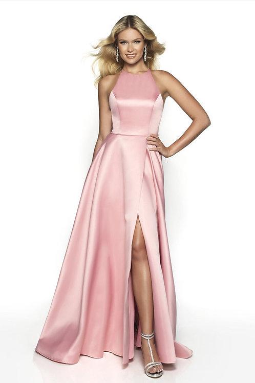 Pink Strappy Ballgown
