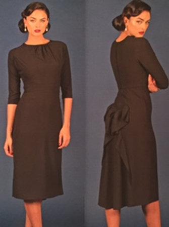 Black Ruffled Back Dress