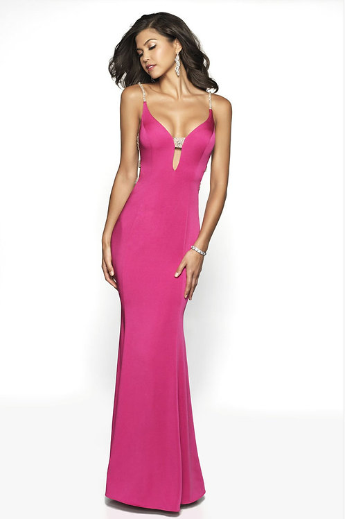 Hot Pink Peekaboo Gown