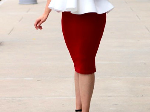 So Sexy Red Skirt